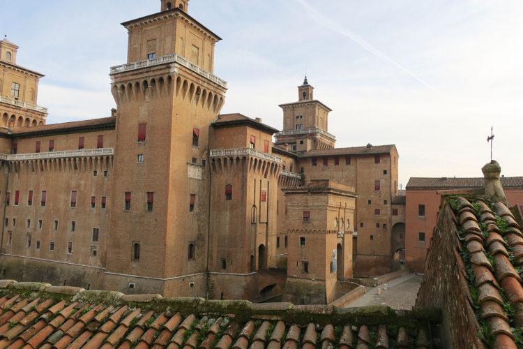 Hotel Ferraraの部屋からEste城を